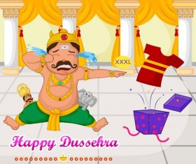 Happy Dussehra festival vector material 02