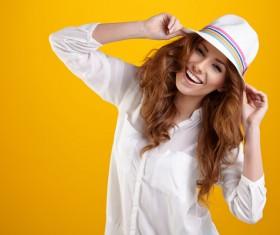 Happy confident woman Stock Photo 02