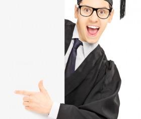 Happy graduation boys Stock Photo