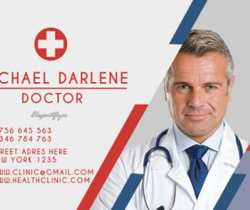Health clinic business card psd template