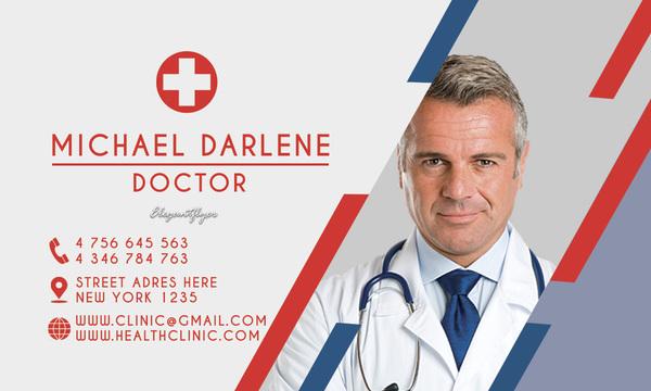 Health clinic business card psd template