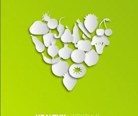Healthy food background vectors 01