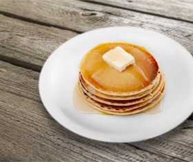 Honey pancakes Stock Photo 02