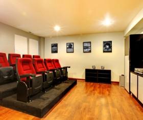 Indoor home theater Stock Photo