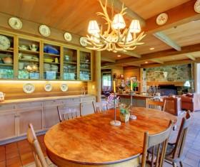 Interior wooden furniture decoration Stock Photo 01