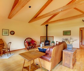 Interior wooden furniture decoration Stock Photo 02