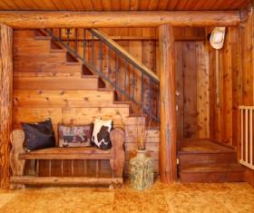 Interior wooden furniture decoration Stock Photo 07