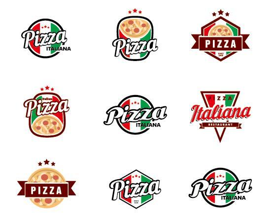 Italy pizza logos vector - Vector Food free download