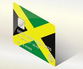 Jamaica Credit Cards template vector