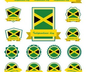 Jamaica labels design vector