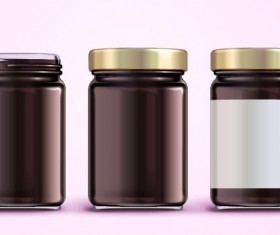 Jar package design vector