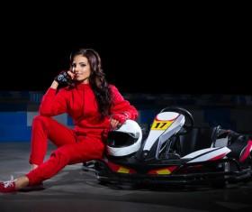 Kart girl racer Stock Photo 01