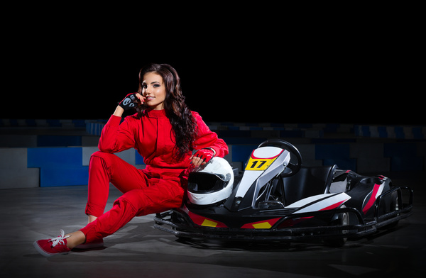 Kart girl racer Stock Photo 01
