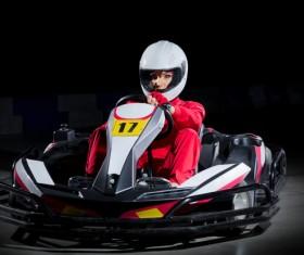 Kart girl racer Stock Photo 02