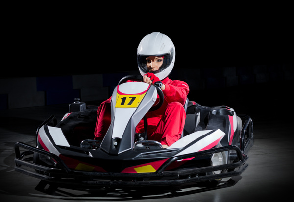 Kart girl racer Stock Photo 02