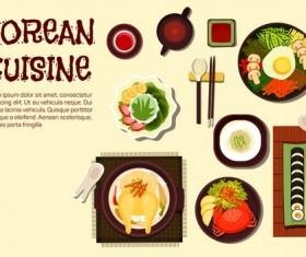 Korean food design vector 01