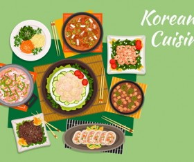 Korean food design vector 05