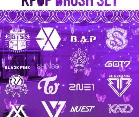Kpop photoshop brushes