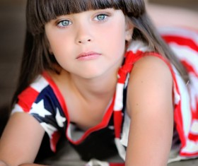 Little girl with beautiful long hair Stock Photo 04