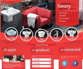 Luxury Brand PSD Website Psd Template