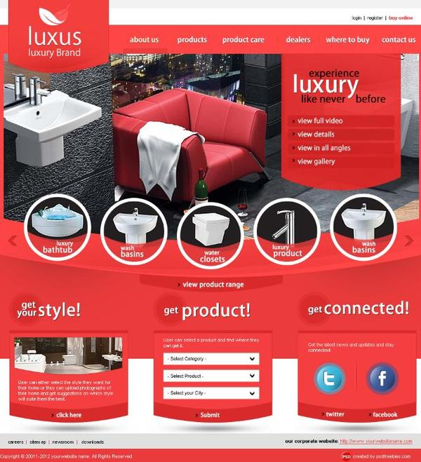 Luxury Brand PSD Website Psd Template