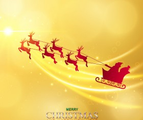 Luxury golden christmas with new year background vector 02