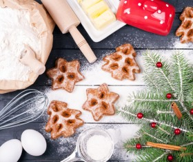 Making Christmas food Stock Photo 05