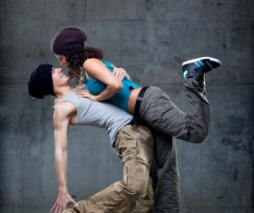 Male and female hip-hop Stock Photo 01