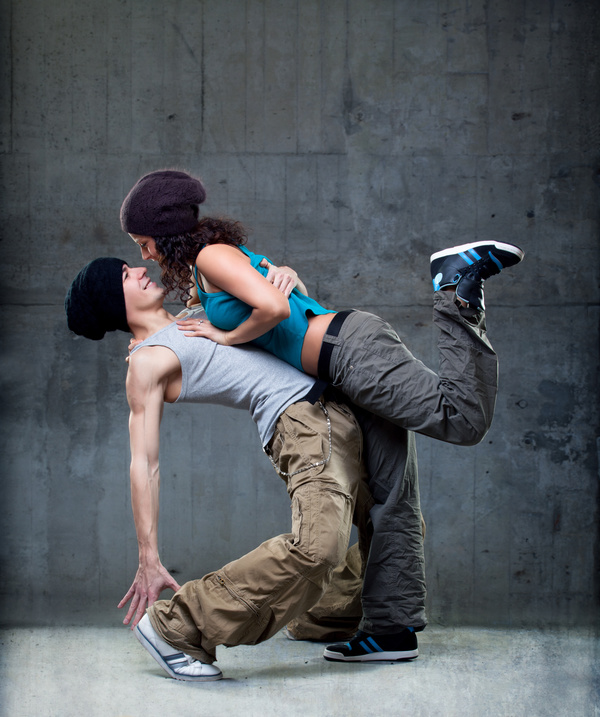 Male and female hip hop Stock Photo 01