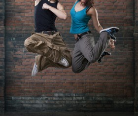 Male and female hip-hop Stock Photo 03