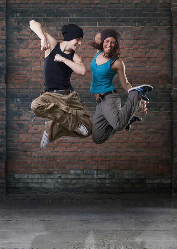 Male and female hip hop Stock Photo 03