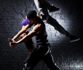 Male and female hip-hop Stock Photo 04