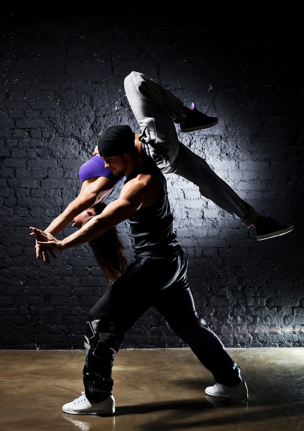 Male and female hip hop Stock Photo 04