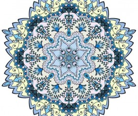 Mandala ornaments pattern vintage vector 01