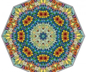 Mandala ornaments pattern vintage vector 02