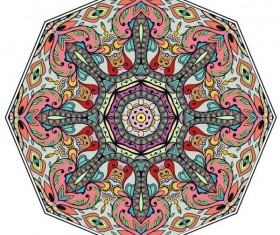 Mandala ornaments pattern vintage vector 03