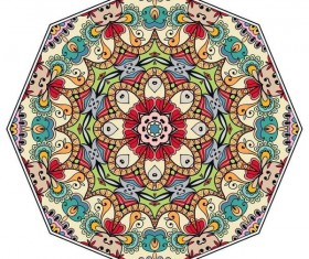 Mandala ornaments pattern vintage vector 04