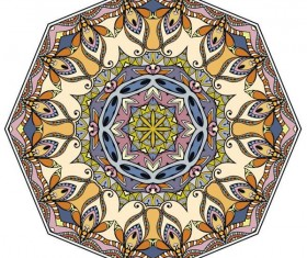 Mandala ornaments pattern vintage vector 05