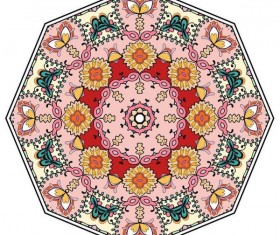 Mandala ornaments pattern vintage vector 06