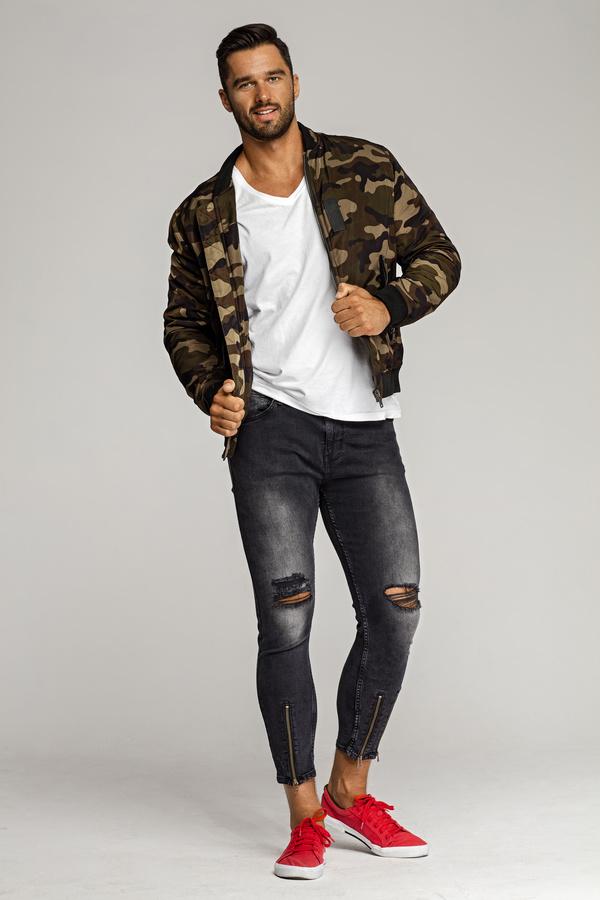 men  camouflage jackets stock photo