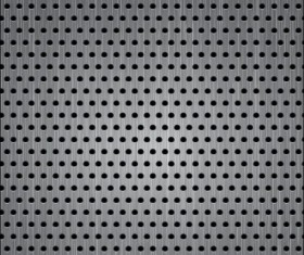 Metal plate with holes vector material