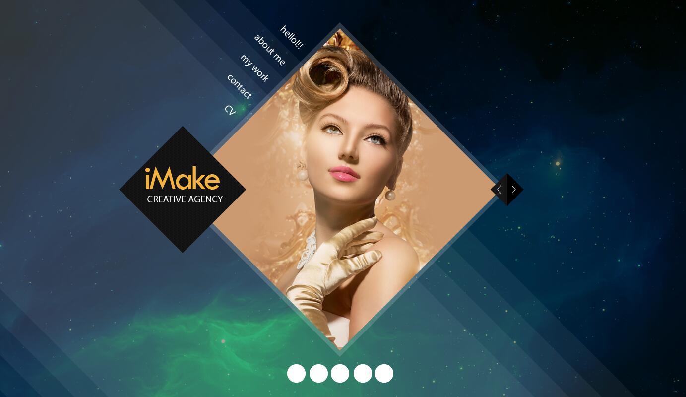 Minimalist website psd template design