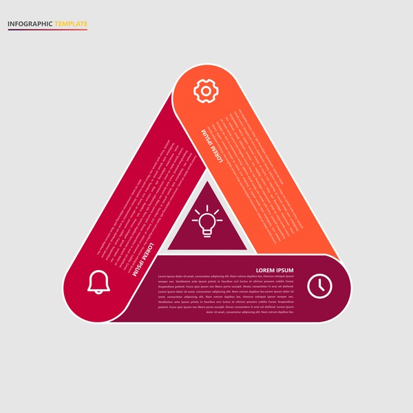 Minimalistic design infographic template vectors material 01