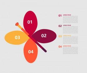 Minimalistic design infographic template vectors material 03