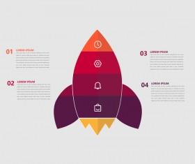 Minimalistic design infographic template vectors material 04