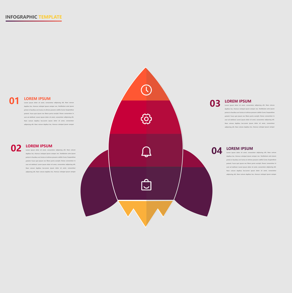 Minimalistic design infographic template vectors material 04