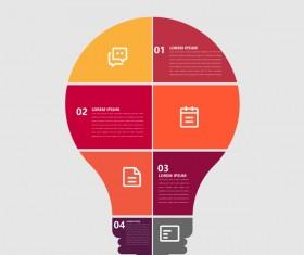 Minimalistic design infographic template vectors material 05