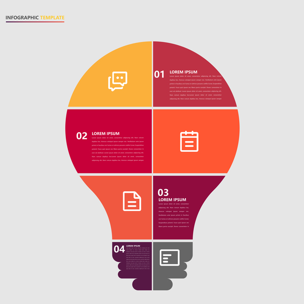 Minimalistic design infographic template vectors material 05