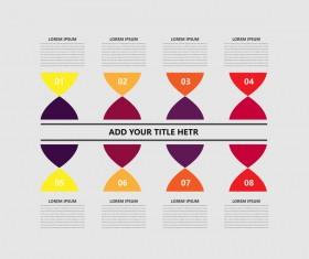 Minimalistic design infographic template vectors material 06