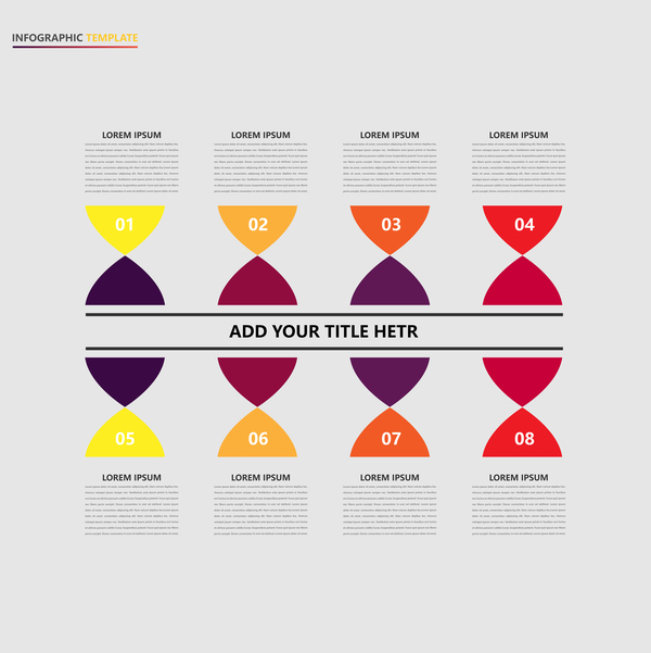 Minimalistic design infographic template vectors material 06